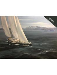 Pen Duick VI en Antarctique