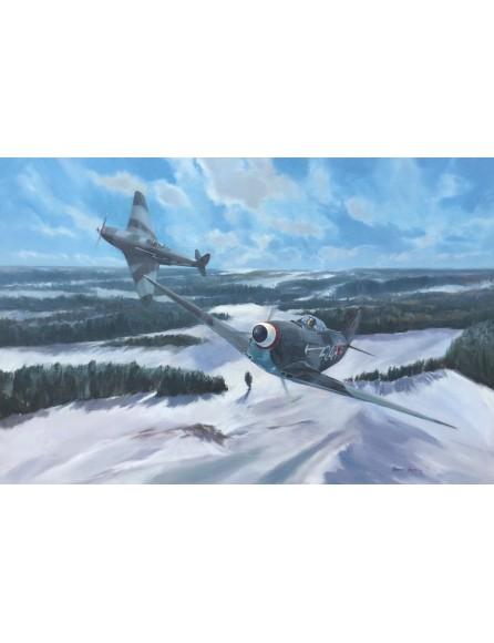 Escadrille du Normandie Niemen. 2 Yak 3 en mission