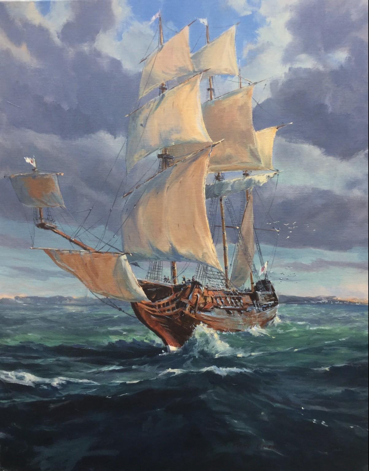 Les Cinq Plaies. Navire Portugais du XVII ième siècle.